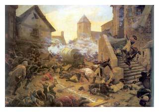 Scène de bataille des guerres de Vendée